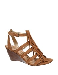 Sam Edelman Sandra Suede Wedge Sandals Saddle