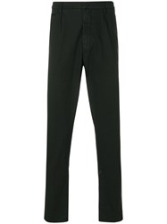 Dondup Cuffed Trousers Cotton Spandex Elastane Black