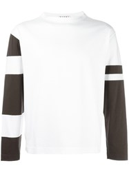 Marni Two Tone T Shirt White