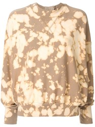 Bassike Mottled Sweatshirt Brown