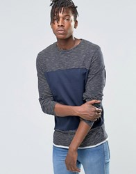 Native Youth Stripe Long Sleeve Top Navy