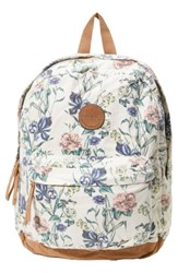O'neill Shoreline Floral Print Backpack White Naked