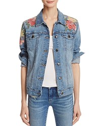 Joe's Jeans Easy Fit Floral Embroidered Denim Jacket Soma