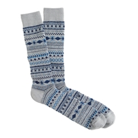 J.Crew Mini Fair Isle Socks Blue Grey