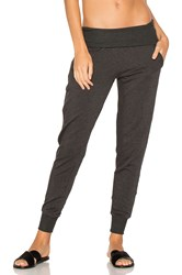 Beyond Yoga Cozy Fleece Foldover Sweatpant Gray