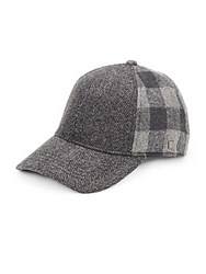 Block Headwear Mixed Pattern Baseball Cap Charcoal