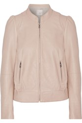 Joie Oshie Leather Jacket Neutral