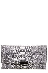Loeffler Randall Convertible Python Embossed Clutch