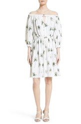 Milly Women's Off The Shoulder Palm Tree Print Dress