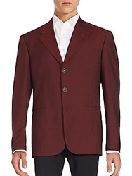 Versace Solid Wool Blend Sportscoat Red