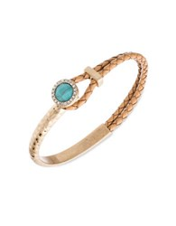 Lonna And Lilly Semi Precious Turquoise Braided Bracelet Gold