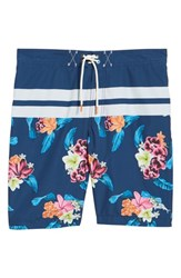 Tommy Bahama Baja Saltwater Blooms Board Shorts Throne Blue
