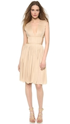 Vionnet Pleated Jersey Dress Venus Nude