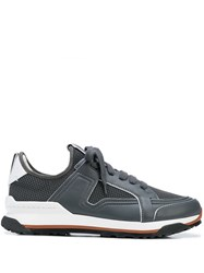 Ermenegildo Zegna Leather Trimmed Low Top Mesh Trainers 60
