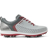 Ecco Golf Biom G2 Rubber Trimmed Leather Golf Shoes Light Gray