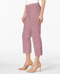 Styleandco. Style Co Curvy Cuffed Capri Jeans In Regular Petite Sizes French Orchid