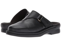 Clarks Patty Nell Black Leather Clog Shoes