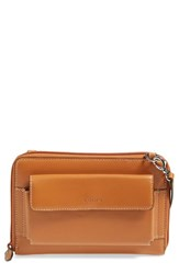Women's Lodis 'Audrey Collection Tracy' Leather Convertible Phone Wallet Brown Toffee