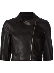 Michael Kors Cropped Biker Jacket Black