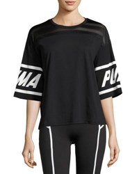 Puma Burnout Athletic T Shirt Black