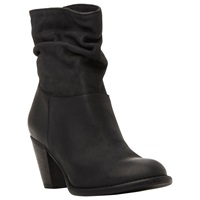 Steve Madden Welded Slouch Leather Ankle Boots Black