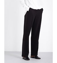 Rag And Bone Abel High Rise Crepe Georgette Trousers Black