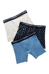 Lucky Brand Stretch Boxer Brief Pack Of 3 Blue