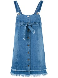 Steve J And Yoni P Denim Overall Dress Women Cotton Xs Blue