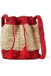 Antik Batik Jinga Raffia Shoulder Bag Red