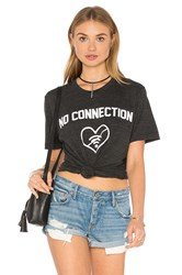 Private Party No Connection Top Charcoal