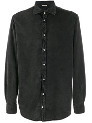 Massimo Alba Long Sleeve Denim Shirt Grey