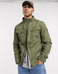 Tom Tailor Utility Jacket In Khaki Green