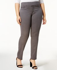 Charter Club Plus Size Cambridge Pull On Jeans Created For Macy's Slate Grey