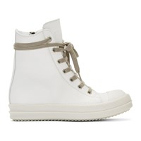 Rick Owens Off White Bumper High Top Sneakers