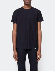Norse Projects Niels Towelling Ss In Navy