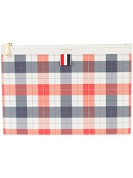 Thom Browne Small Zipper Tablet Holder 29.5X20cm In Small Buffalo Red