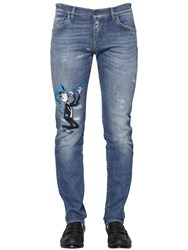 Dolce And Gabbana 16 5Cm Stretch Cotton Denim Jeans