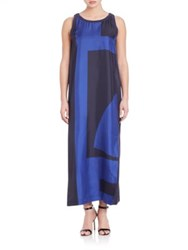 Dkny Pure Silk Gown Classic Navy