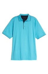 Bobby Jones Solid Tipped Polo Blue