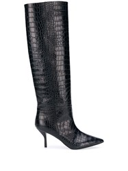 Semicouture Crocodile Effect Boots 60