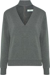 Bailey 44 Eye Splice Cutout Stretch Modal Fleece Top Anthracite