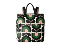 Orla Kiely Matt Laminated Stripe Tulip Print Backpack Spring Backpack Bags Green