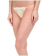 Wacoal Embrace Lace Thong Natural Nude Ivory Women's Underwear White