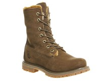 Timberland Fur Fold Down Boots Brown