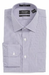 Nordstrom Men's Big And Tall Men's Shop Traditional Fit Non Iron Check Dress Shirt Purple Dahlia
