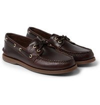 Sperry Authentic Original Burnished Leather Boat Shoes Brown