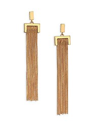 Chloe Delfine Chain Tassel Earrings Gold