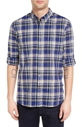 John Varvatos Men's Collection Mitchell Slim Fit Plaid Roll Sleeve Sport Shirt