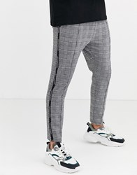 Good For Nothing Skinny Trousers In Grey Prince Of Wales Check