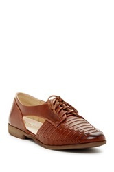 Restricted Brassy Woven Oxford Brown